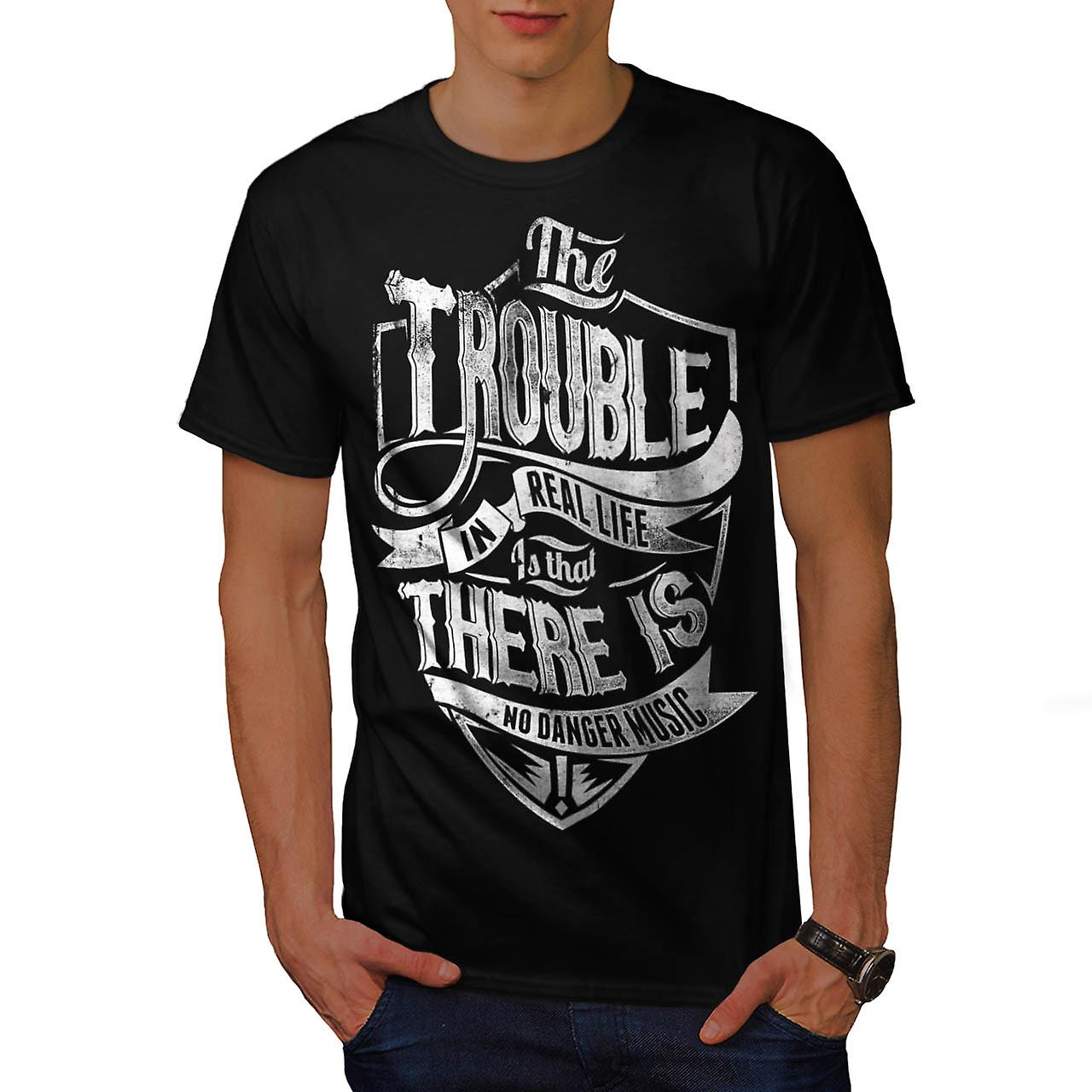 Real Life Danger Tune Music Beat Men Black T-shirt | Wellcoda