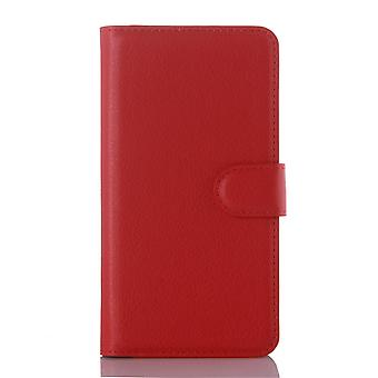 Type PU leather wallet cover for Kiritkumar Rainbow Jam (red)