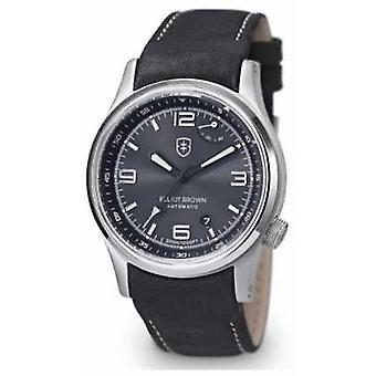 Elliot Brown Mens Tyneham Black Leather Strap Black Dial 305-005-L15 Watch