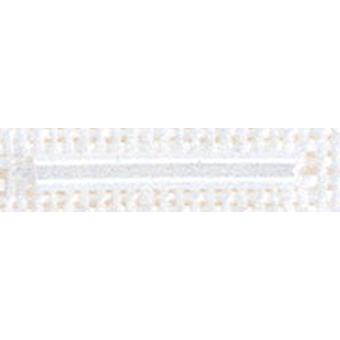 Mill Hill grand verre Bugle Beads 2.5mmX14mm 2,25 g-blanc BLB-90479