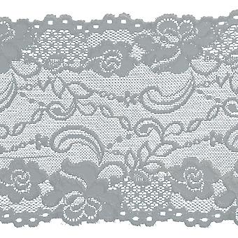 Metallic Embroidered Edge Bridal Organza Trim 8-1/8
