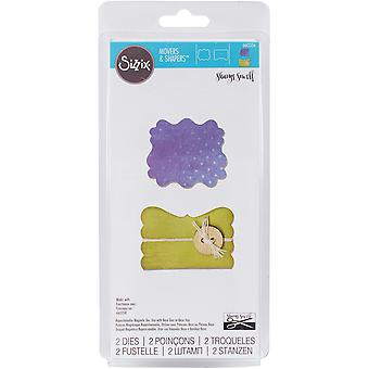 Sizzix Movers & Shapers Magnetic Dies 2/Pkg-Door & Label 660356