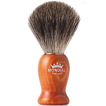 Mondial Pure Grey Badger Shaving Brush Wood