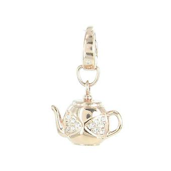 Fossil pendants charms JF00276791 teapot rose Zyrkonia