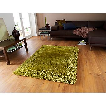 Dense Soft Thick Earthy Green Shaggy Area Rug - Santa Clara