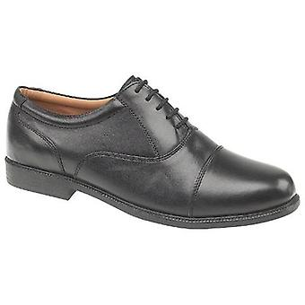 Amblers Mens London Oxford Shoes Leather PVC Lace Up Fastening Male Footwear