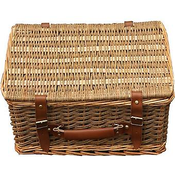 38cm Double Steamed Green Willow Empty Picnic Basket
