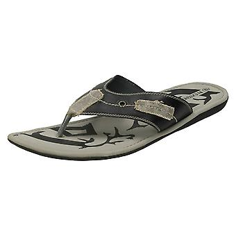 Mens In Extenso 'Brindille' Toe Post Sandals