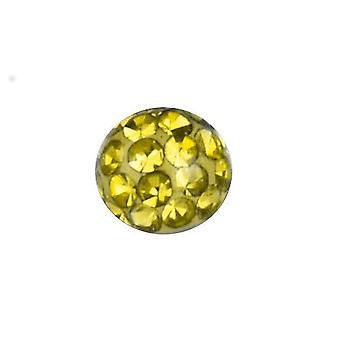 Piercing Replacement Ball, Body Jewellery, Multi Crystal Stones Citrine Yellow | 4, 5 and 6 mm