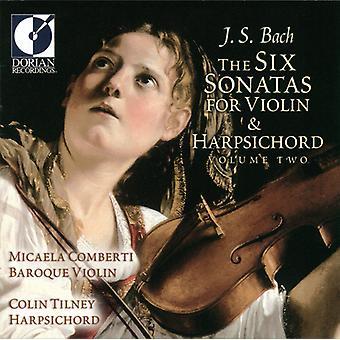 J.S. Bach - J.S. Bach: The Six Sonatas for Violin & Harpsichord, Vol. 2 [CD] USA import