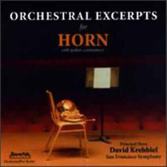 David Krehbiel - Orchestral Excerpts for Horn [CD] USA import