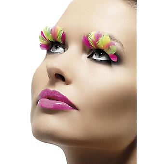 Eyelashes artificial eye lashes 80's NEON feathers