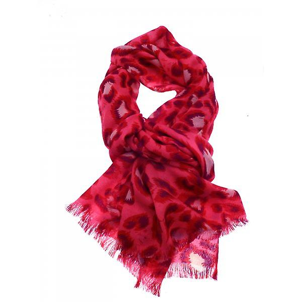 W.A.T Soft Neon Pink Animal Print Women's Scarf