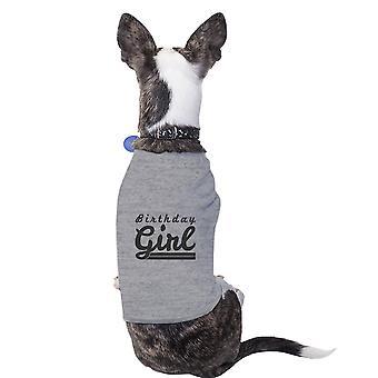 Mädchen grau niedlichen Hund T-Shirt Baumwolle Geburtstagsgeschenk für kleine Haustiere nur