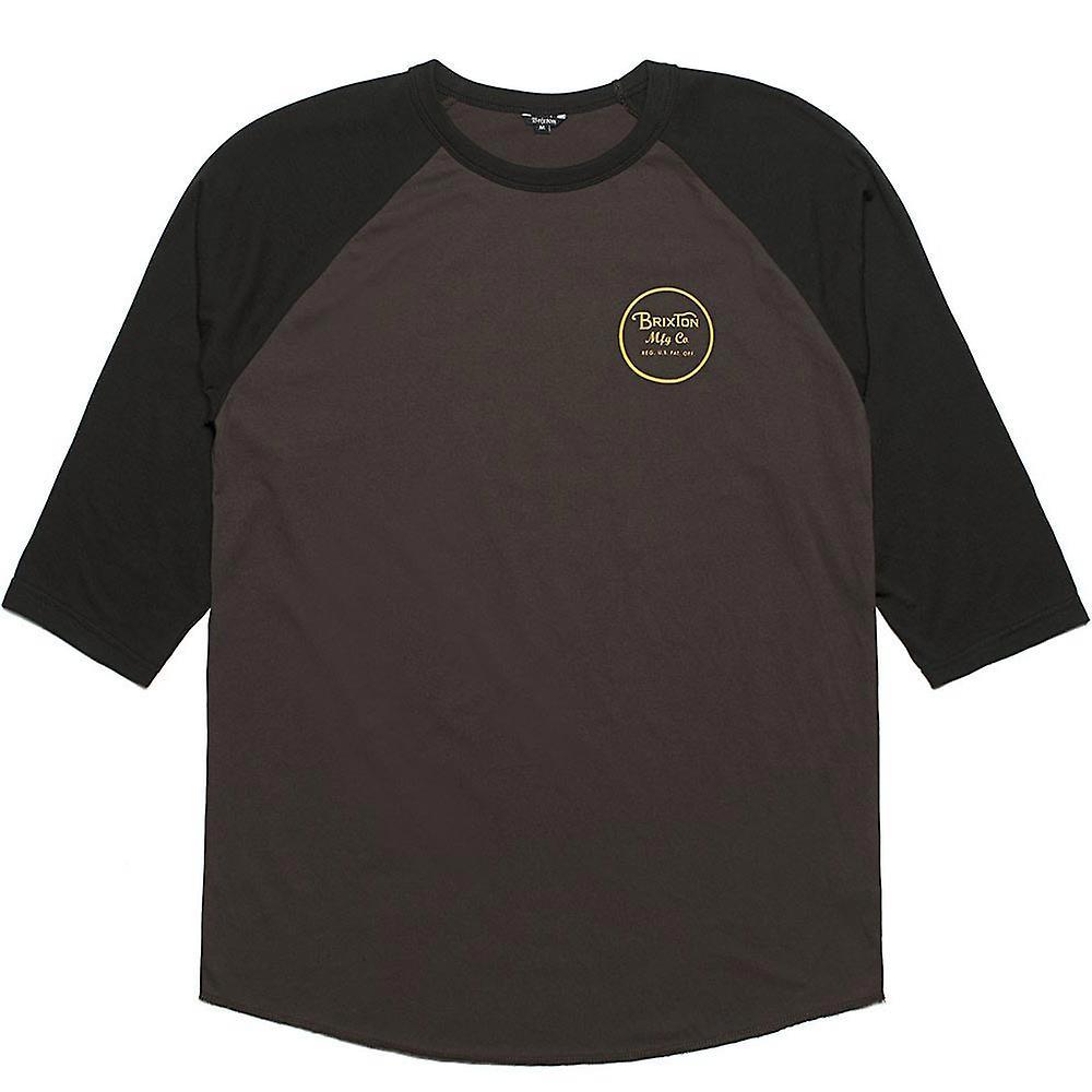 Brixton Wheeler 3/4 Sleeve T-Shirt Black Black