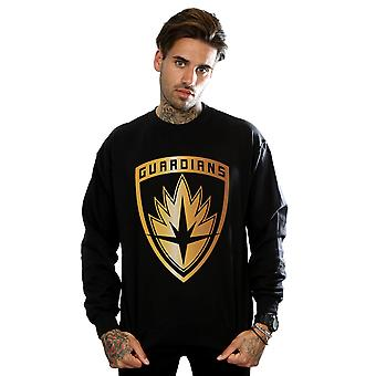 Marvel Men's Guardians Of The Galaxy Foil Badge Sweatshirt
