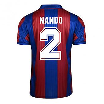 Score Draw Barcelona 1992 Home Shirt (Nando 2)