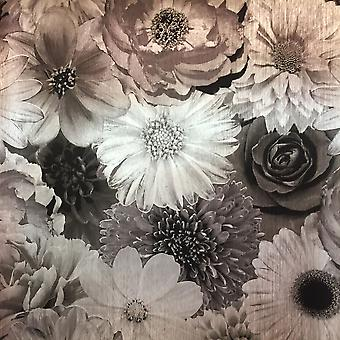 Luxury Weight Vinyl Wallpaper Flower Floral Foil Bloom Metallic Shiny Arthouse