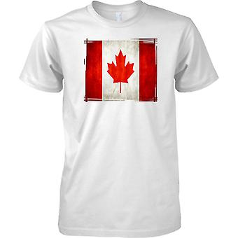 Canada Grunge Effect Flag - Kids T Shirt