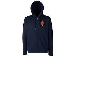 1 ° 5 ° Bn USMC Marine ricamato Logo - Felpa con cappuccio giacca con zippato