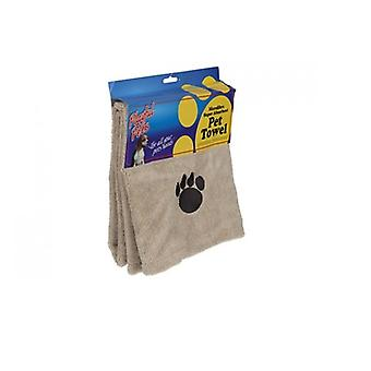 Microfibre Super Absorbent Pet Dog Cat Bath Towel Playful Pets Cleaning Drying