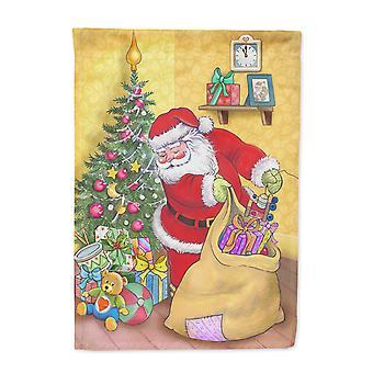 Weihnachten Weihnachtsmann und sein Spielzeug Flagge Haus Leinwandgröße