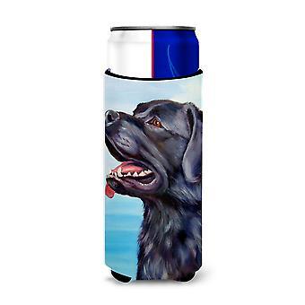 Black Labrador Retriever Michelob Ultra beverage Insulator for slim cans