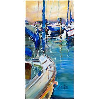 Tom, Dick and Harry III Sailboats Indoor or Outdoor Runner Mat 58x28