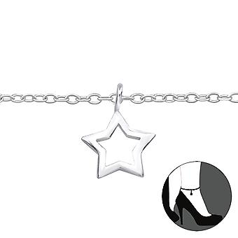 Star - 925 Sterling Silver Anklets - W23956x