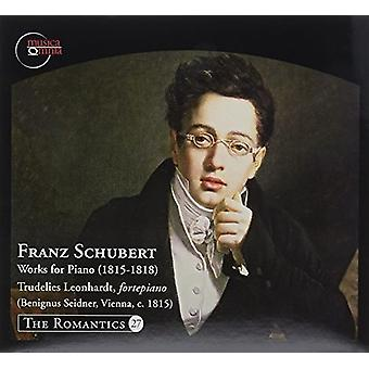 Schubert / Leonhardt - Franz Schubert: værker for klaver (1815-1818) [CD] USA importerer