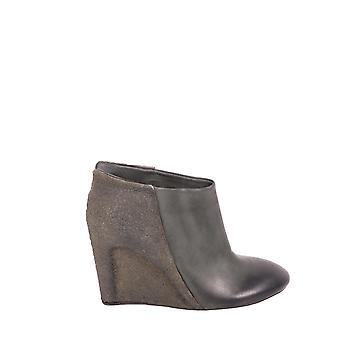 Del Carlo ladies 10444CRUSTOLIVA green leather ankle boots