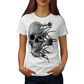 Rosen Tod Badass Frauen WhiteT-Shirt | Wellcoda