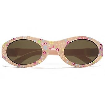 Monkey Monkey Childrens Grace Girls Baby Wrap Sunglasses In Pink Print