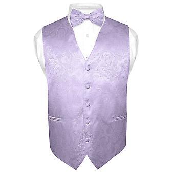 Masculine Paisley Design robe Vest & noeud de cravate noeud papillon Set pour costume Tux