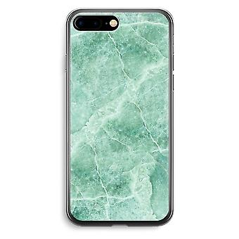 iPhone 7 Plus Transparent Case (Soft) - Green marble