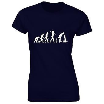 Dronken Evo Evolution Alcohol Womens T-Shirt 8 kleuren (8-20) door swagwear