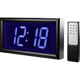 Renkforce 1369489 Quartz Alarm clock Black Alarm times 2