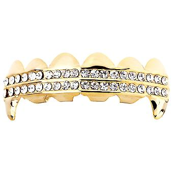One Size Fits All Bling Grillz - DRACULA TOP - Gold