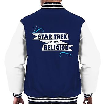 Star Trek Is My Religion Men's Varsity Jacket