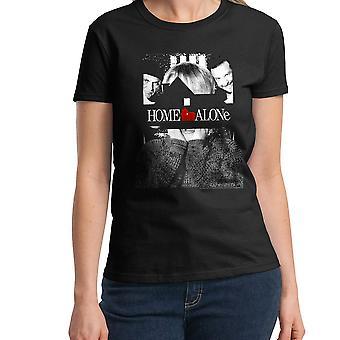 Home Alone Poster Women's Black T-shirt