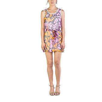Miu Miu kvinders silke bomuld blomster Print Bow Wrap kjole lyserød
