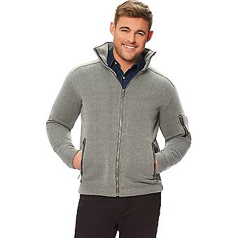 Regatta Mens Cathan Knit Look Textured Full Zip Fleece Jacket Top