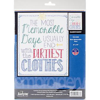 Most Memorable Days Stamped Embroidery Kit-8