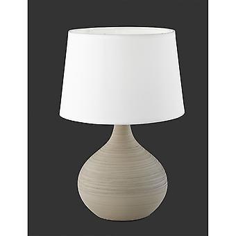 Trio Lighting Martin Modern Cappucino Ceramic Table Lamp
