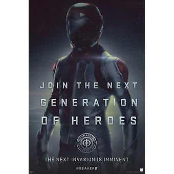 Enders Game - Helden-Poster-Plakat-Druck