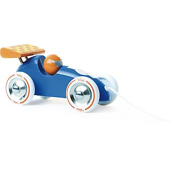 Vilac Blue and Orange Pull Along Racing Car