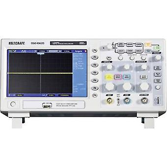 Digital VOLTCRAFT DSO-1062D-VGA 60 MHz 2-channel 500 MSa/s 512 kpts 8 Bit Calibrated to Manufacturer's standards (no cer