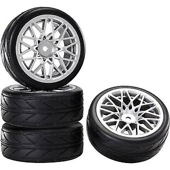 Reely 1:10 Road version Wheels Wolf LM Silver 4 pc(s)
