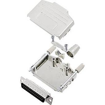encitech DPPK25-M-HDP44-K D-SUB pin strip set 180 ° Number of pins: 44 Solder bucket 1 Set
