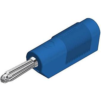 Banana plug Plug, straight Pin diameter: 4 mm Blue SKS Hirschman